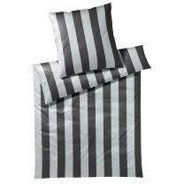 Elegante ´Lines´ sengetøj 135x200 - Sort/silver