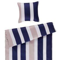 BySkagen  ´Malou´ bambus/bomuldssatin sengetøj 140x220 cm - Blå striber