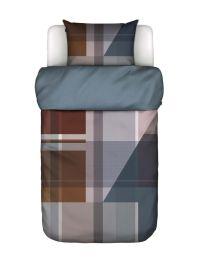 Marc O´Polo ´Meja´ sengetøj 140x220 cm - Blå/jord