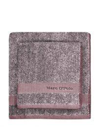 MARC O`POLO Melange håndklæde 50x100 cm - Aubergine/lys lavendel