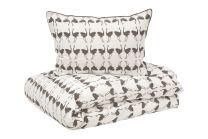 Boräs cotton ´Michiko´ sengetøj 140x220 cm - Brun. KUN 1 TILBAGE
