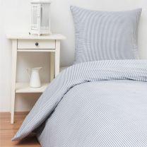 bySKAGEN ´Mille´ sengetøj til dobbeltdyne 200x200 cm - Mørkeblå/hvid