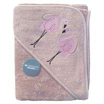 Nørgaard Madsen badeslag 100x100 cm - Mauve med flamingo