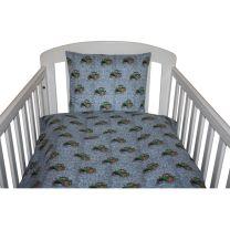 Nørgaard Madsen ´Traktor´baby sengetøj - Lyseblå