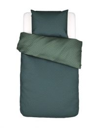 Covers & co ´No stripes no glory´ sengesæt 140x200 cm - Grøn/blå