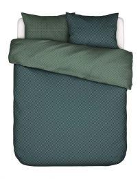 Covers & co ´No stripes no glory´ sengesæt 200x200 cm - Grøn/blå