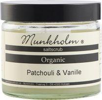 Munkholm Organic saltscrub 300g - Patchouli og vanilje