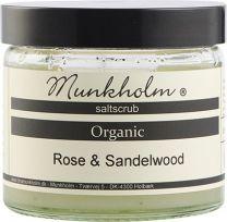 Munkholm Organic saltscrub 300g - Rose & Sandelwood