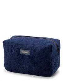 Essenza ´Pepper´ velour toilettaske stor - Indigo/blå