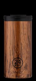 24Bottles ´Travel Tumbler´ Termokrus 600 ml - Sequoia Wood