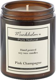Munkholm soya wax lys 180 ml - Pink Champagne