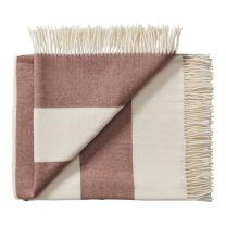Silkeborg Uldspinderi ´The sweater´ uld plaid 130x160 cm - Brun