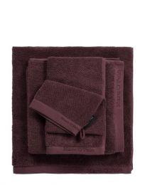 MARC O`POLO ´Timeless uni´ gæstehåndklæde 30x50 cm - Aubergine