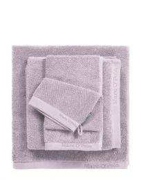 MARC O`POLO ´Timeless uni´ gæstehåndklæde 30x50 cm - Lavendel/lys