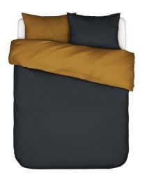 Covers & co ´Two in one´ sengesæt 200x200 cm - Blå/Gylden