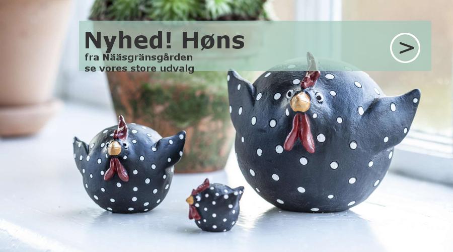 Høns i keramik